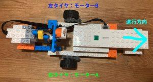 レゴWEDOの欠点2 モーターが1つなのでカーブが難しい。