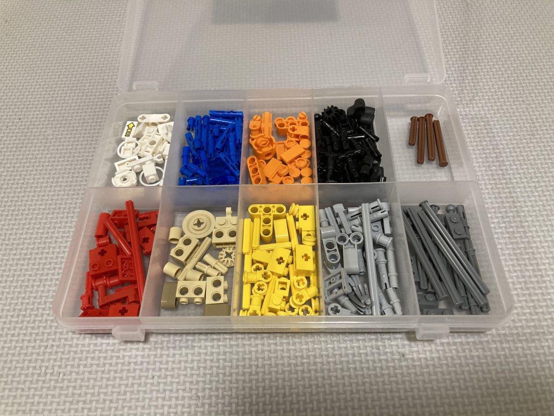 SIKIRI10でレゴブーストのテクニック系小物ブロックを収納