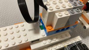 レゴブーストのフォークリフトアームの作り方の説明図です
