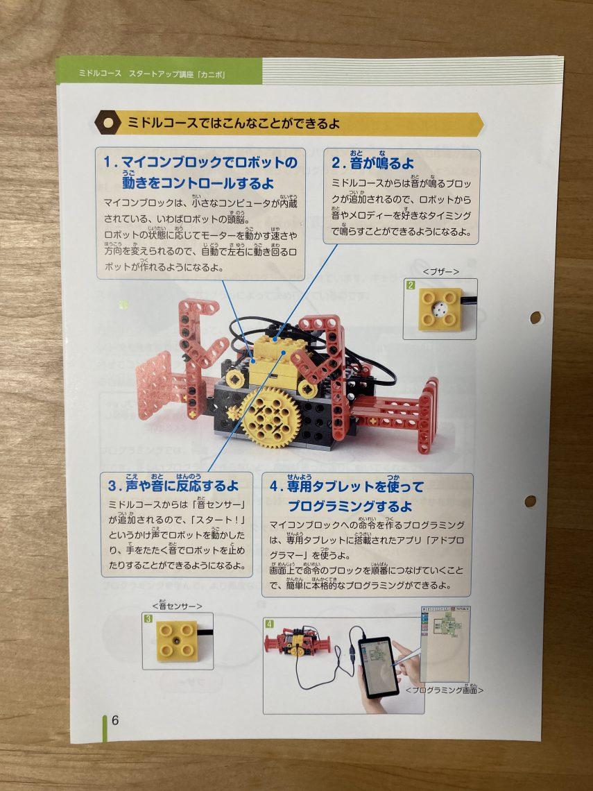 ヒューマンアカデミー ミドルコースのロボット教材